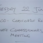 Private Commissioners meeting